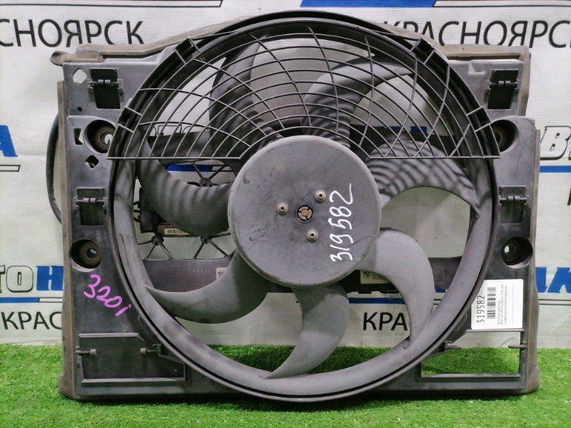 Вентилятор радиатора Bmw 320I E46 M52 B20TU 1998 с диффузором и блоком управления