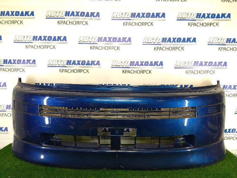 Бампер Toyota Bb NCP31 1NZ-FE 2000 передний передний, синий, 1 модель (дорестайлинг), с заглушками,