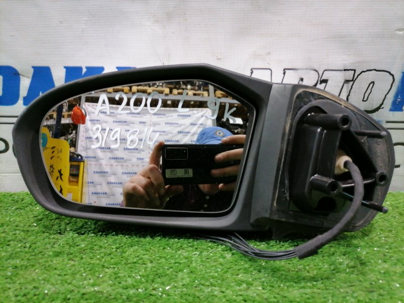 Зеркало Mercedes-Benz A200 W169 M266 E20 2004 переднее левое Левое, 9 контактов, с повторителем, цвет 761U.