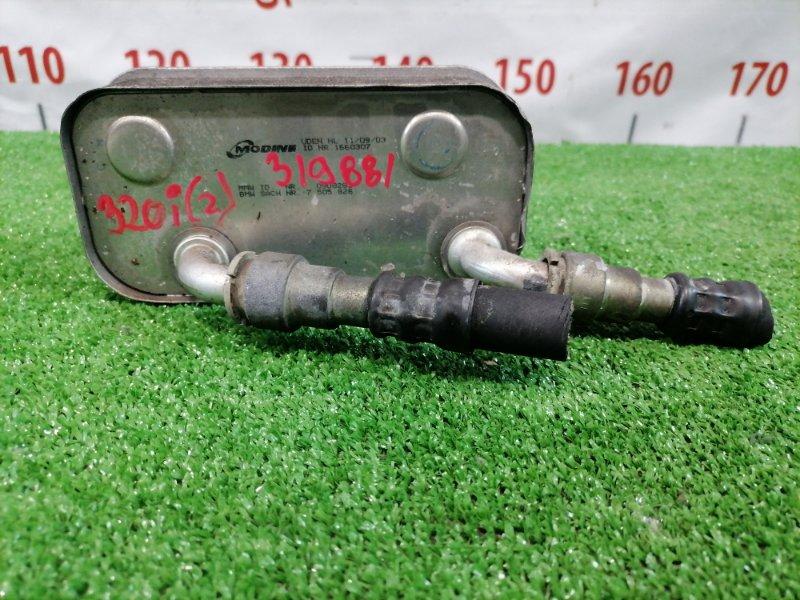 Радиатор акпп Bmw 320I E46 M54 B22 2001 теплообменник (алюм) на АКПП, с радиатора