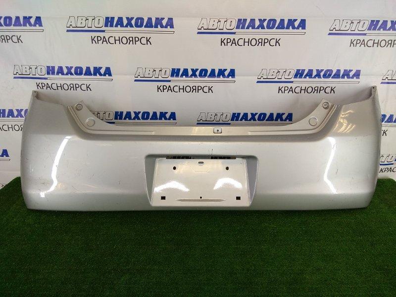 Бампер Mazda Az-Wagon MJ23S K6A 2008 задний задний, серебристый, потертости, царапинки, надрыв