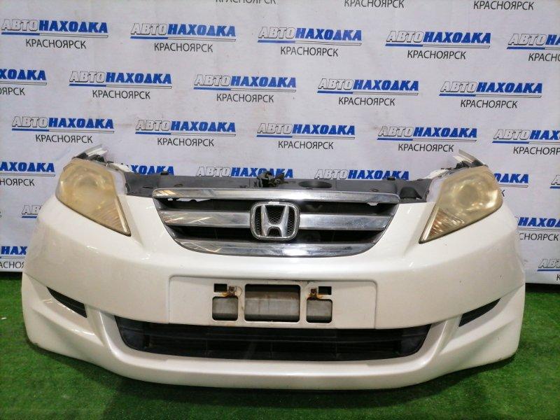 Nose cut Honda Edix BE3 K20A 2004 передний nose cut в сборе, белый перламутр, дорестайлинг 1 модели, A/T: