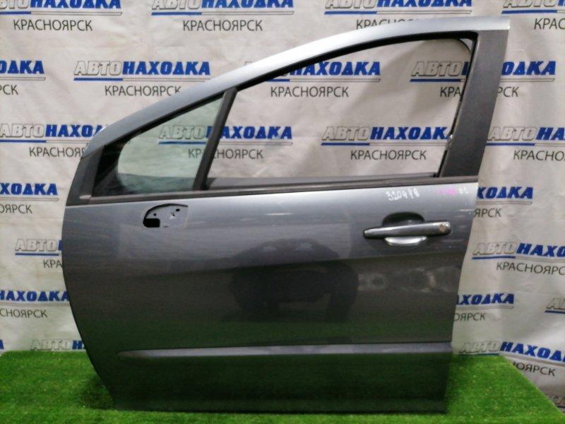 Дверь Peugeot 308 T7 EP6DT 2007 передняя левая Передняя левая, в сборе, цвет KTH. Есть дефект ЛКП