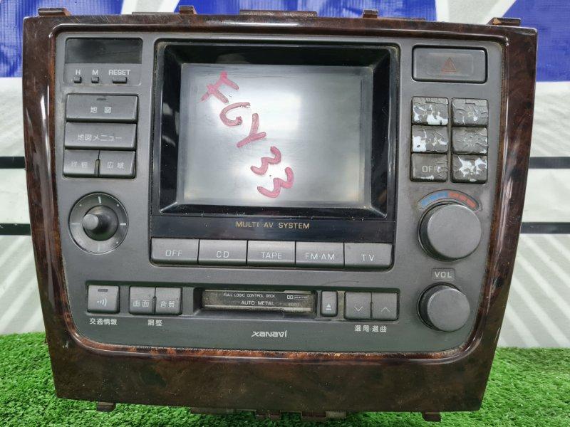 Климат-контроль Nissan Cima FGY33 VH41DE 1996 Климат-контроль с магнитофоном, есть потертости