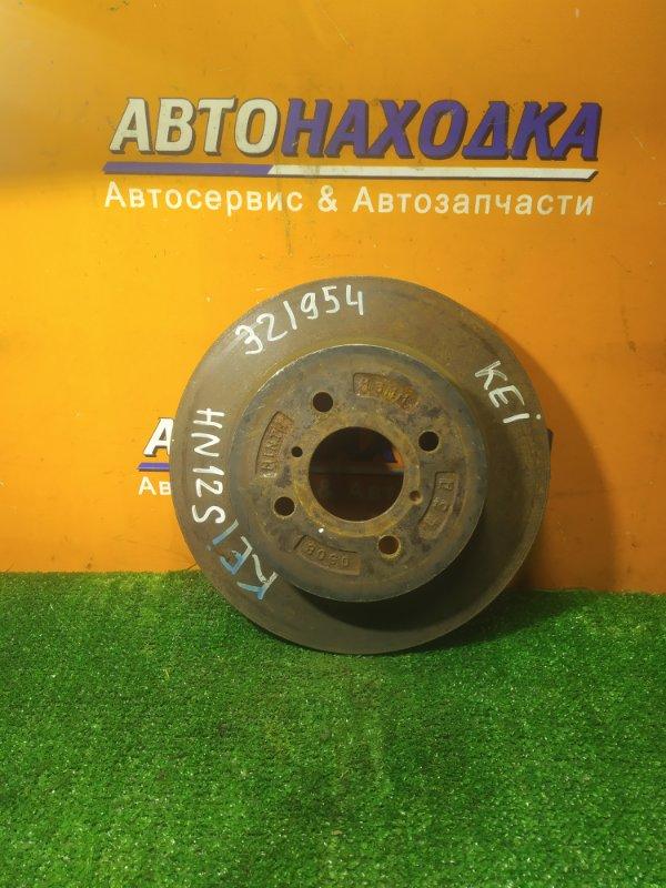 Диск тормозной Suzuki Kei HN11S K6A передний 80G0 Ф257, T16, CD59, 4 ШПИЛЬКИ, ВЕНТ,