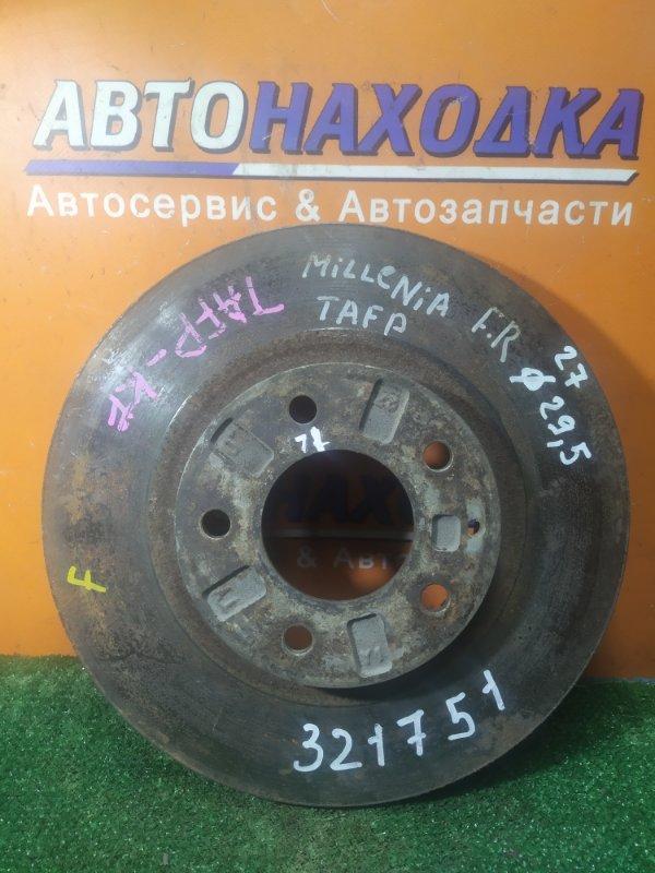 Диск тормозной Mazda Millenia TAFP KF передний Ф295, T27, CD71, 5 ШПИЛЕК, ВЕНТ