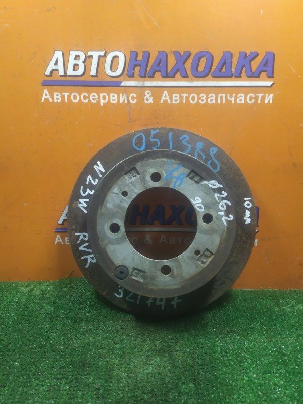 Диск тормозной Mitsubishi Rvr N23W 4G63 задний Ф262, CD90, T10, 4 ШПИЛЬКИ, НЕ ВЕНТ