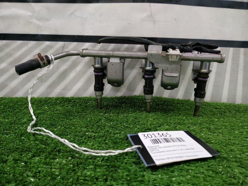 Форсунка Suzuki Mr Wagon MF33S R06A 2012 EAT326 Топливная, комплект 3 шт. с рампой.