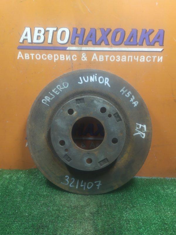 Диск тормозной Mitsubishi Pajero Junior H57A 4A30 передний Ф278, T11, CD68, 5 ШПИЛЕК, НЕ ВЕНТ