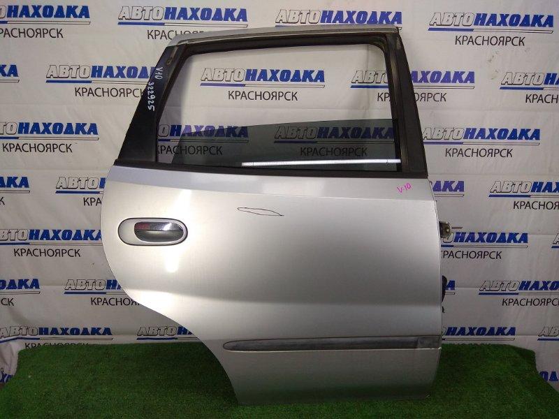 Дверь Nissan Tino V10 QG18DE 1998 задняя правая задняя правая, в сборе, серебристая (KL0), дефект