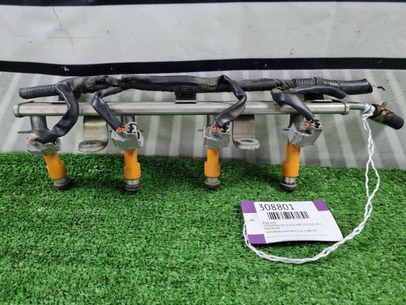 Форсунка Mitsubishi Delica D2 MB15S K12B 2011 Топливная, комплект 4 шт. с рампой
