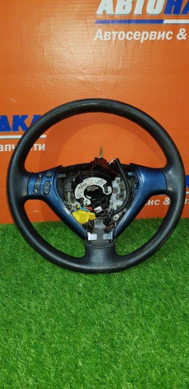 Руль Honda Fit GD1 L13A 2001 передний шлейф+руль с кнопками/без AIRBAG/есть потертости