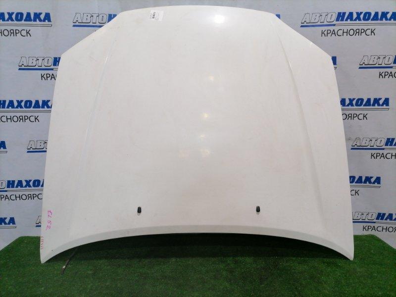 Капот Toyota Cynos EL52 4E-FE 1995 передний Белый, есть мелкие царапинки, под полировку
