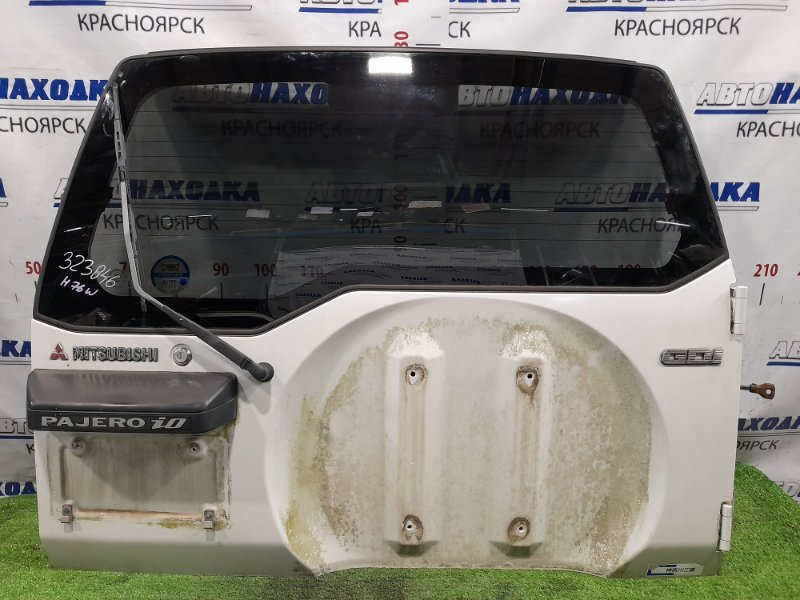 Дверь задняя Mitsubishi Pajero Io H76W 4G93 1998 задняя В сборе, в ХТС, цвет W75