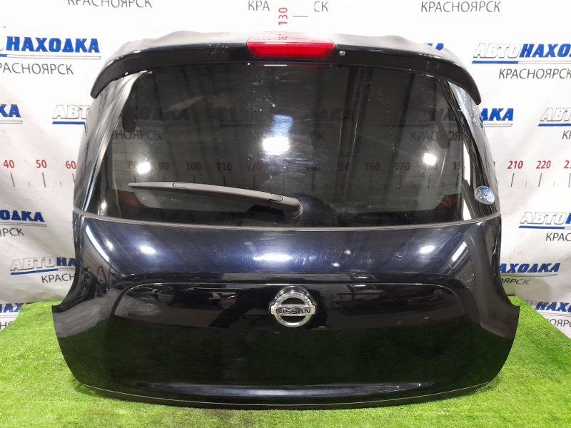 Дверь задняя Nissan Juke YF15 HR15DE 2010 задняя в сборе, с камерой, з/х, цвет B20, есть три вмятинки