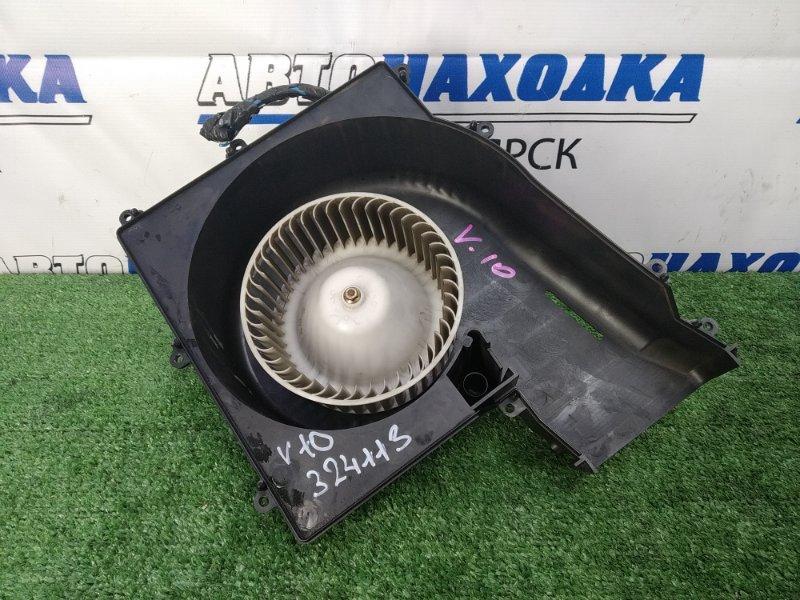 Мотор печки Nissan Tino V10 QG18DE 1998 в корпусе, с вырезом под реостат