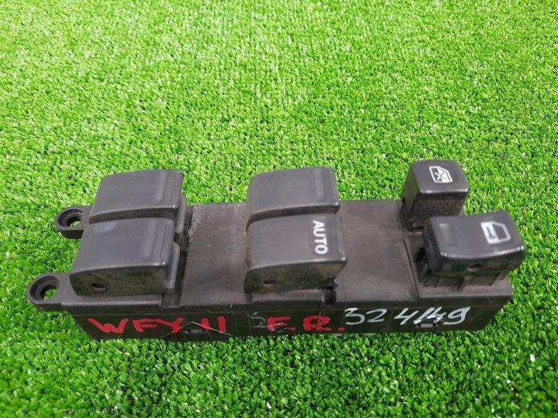 Блок управления стеклоподъемниками Nissan Wingroad WFY11 QG15DE 2001 передний правый на фишки,