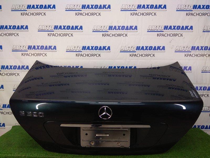 Крышка багажника Mercedes-Benz S320 220.065 112.944 1998 задняя в сборе, темно-синяя (189U), с аварийным