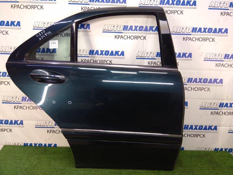 Дверь Mercedes-Benz S320 220.065 112.944 1998 задняя правая задняя правая, темно-синяя (189U), airbag без