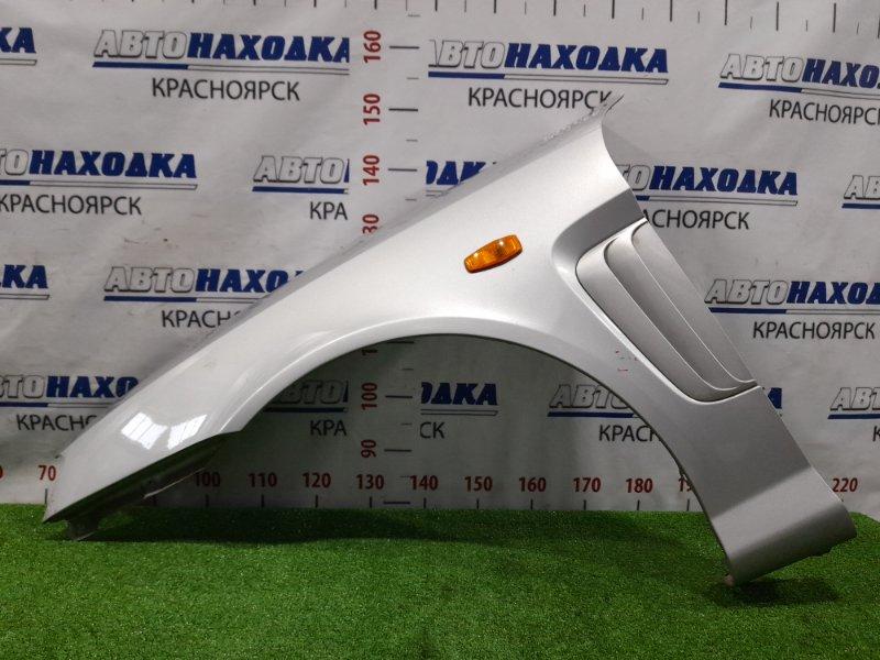 Крыло Hyundai Coupe GK G6BA 2002 переднее левое Переднее левое, цвет LS, с повторителем, накладкой.