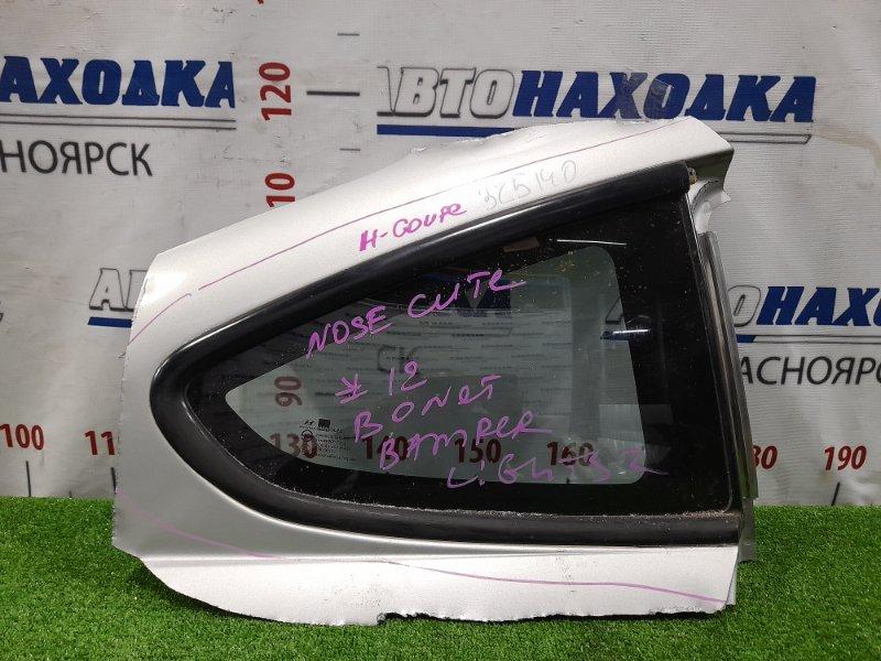 Стекло собачника Hyundai Coupe GK G6BA 2002 заднее правое Правое, вырезано с куском кузова