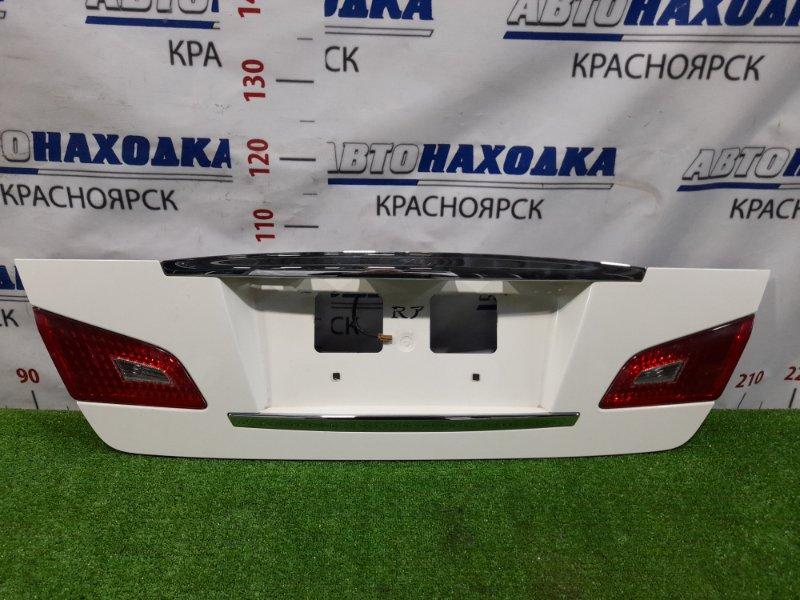 Накладка багажника Nissan Fuga PY50 VQ35HR 2007 Рестайлинг, с вставками (132-63971), в ХТС.