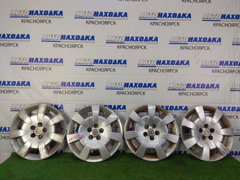 Колпаки колесные Toyota Avensis AZT250W 1AZ-FSE 2006 Оригинал, R16, комплект 4 шт, есть потертости,