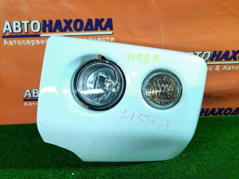 Клык бампера Mitsubishi Pajero Mini H58A 4A30 передний левый 0874, 210-87339 клык переднего бампера левый, с