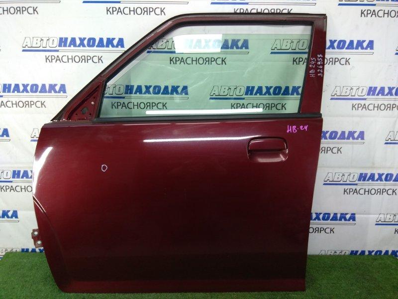 Дверь Mazda Carol HB24S K6A 2004 передняя левая в целом ХТС, передняя левая, бордовая,