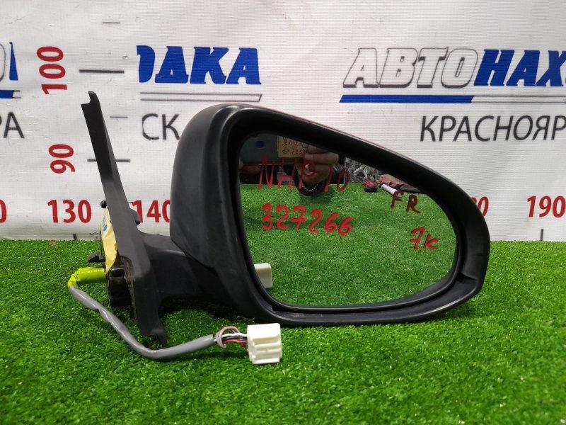 Зеркало Toyota Aqua NHP10 1NX-FXE 2011 переднее правое правое, 7 контактов, с повторителем (52-231). Есть