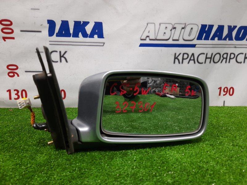 Зеркало Mitsubishi Lancer CS5W 4G93 2003 переднее правое Правое, 5 контактов. Есть потертость до