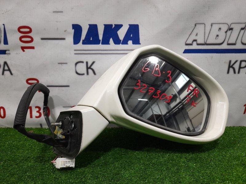 Зеркало Honda Freed GB3 L15A 2008 переднее правое правое, 7 контактов, с повторителем. Есть