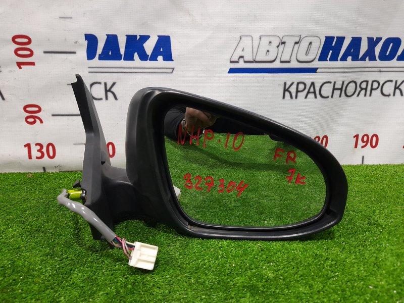 Зеркало Toyota Aqua NHP10 1NX-FXE 2011 переднее правое правое, 7 контактов, с повторителем (52-231). В