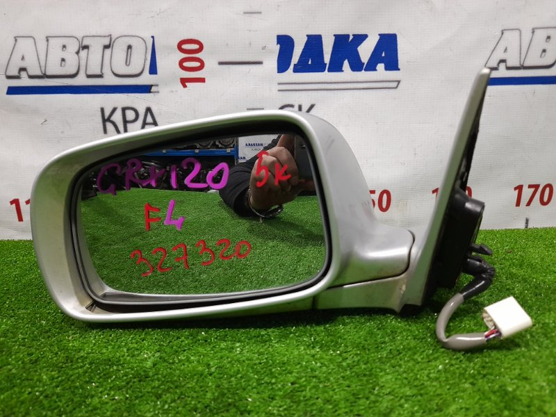 Зеркало Toyota Mark X GRX120 4GR-FSE 2004 переднее левое Левое, 5 контактов. Есть потертости до