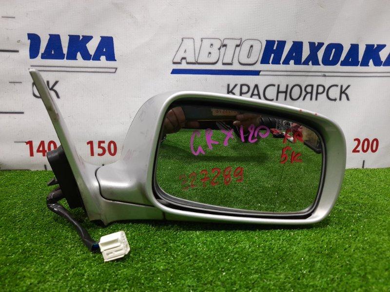 Зеркало Toyota Mark X GRX120 4GR-FSE 2004 переднее правое Правое, 5 контактов. потертости до пластика,