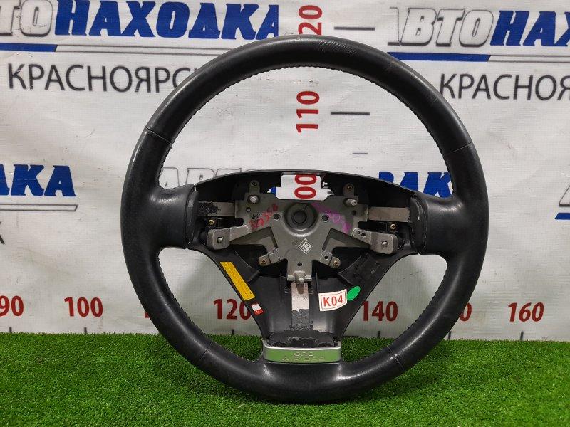 Руль Hyundai Coupe GK G6BA 2002 без AIRBAG, потертости царапины кожи.