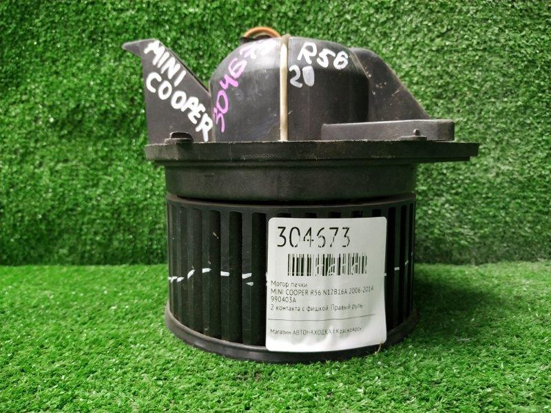 Мотор печки Mini Cooper R56 N12B16A 2006 990403A 2 контакта с фишкой. Правый руль