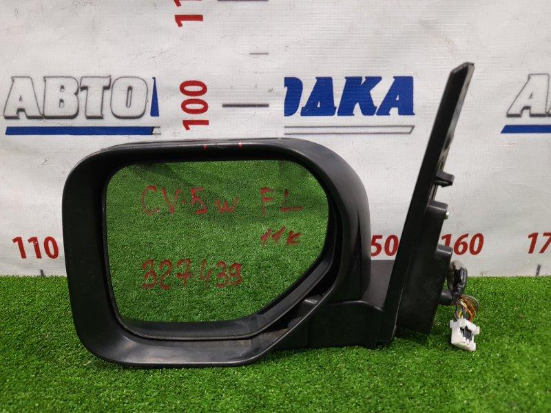 Зеркало Mitsubishi Delica D:5 CV5W 4B12 2007 переднее левое Левое, с камерой, повторителем, 11 контактов.