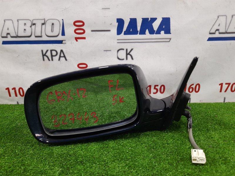 Зеркало Toyota Mark X GRX120 4GR-FSE 2004 переднее левое Левое, 5 контактов. Есть мелкие сколы ЛКП.