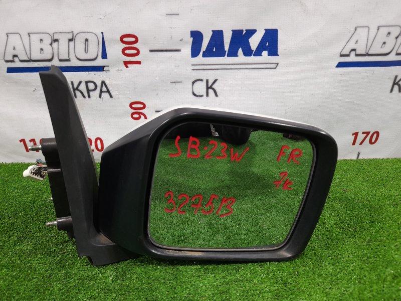 Зеркало Suzuki Jimny JB23W K6A 1998 переднее правое Правое, 7 контактов, есть мелкие царапины.