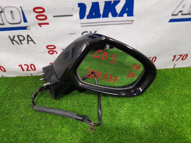 Зеркало Honda Freed GB3 L15A 2008 переднее правое правое, 5 контактов, есть потертости до пластика.