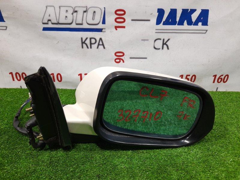 Зеркало Honda Accord CL7 K20A 2002 переднее правое Правое, с повторителем, 7 контактов, есть