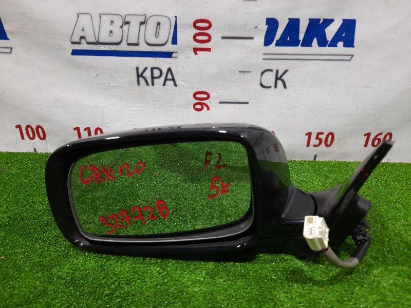 Зеркало Toyota Mark X GRX120 4GR-FSE 2004 переднее левое Левое, 5 контактов. Есть потертость до