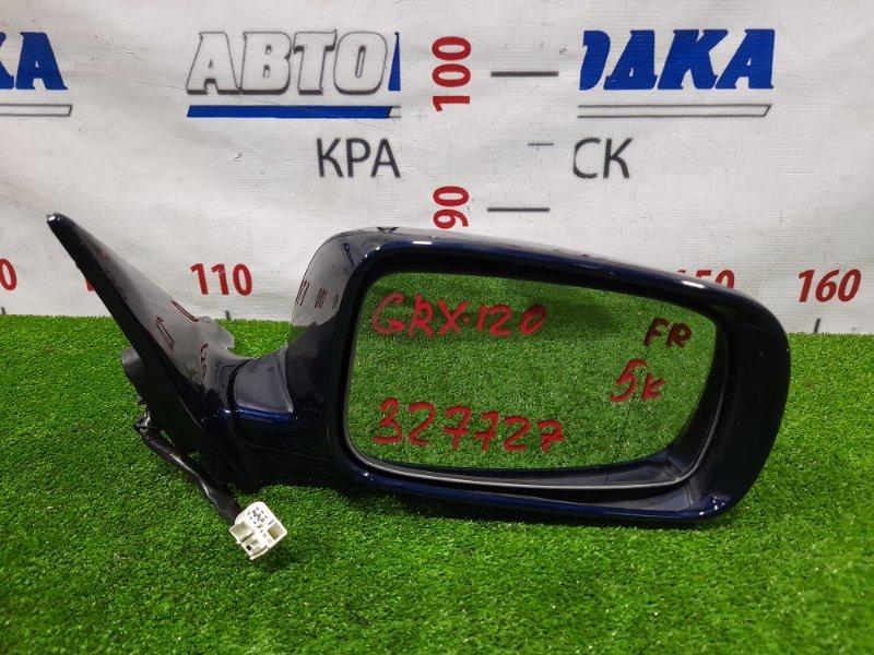 Зеркало Toyota Mark X GRX120 4GR-FSE 2004 переднее правое Правое, 5 контактов. Есть потертость до
