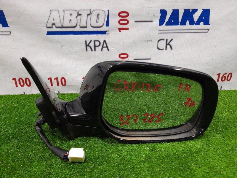 Зеркало Toyota Mark X GRX120 4GR-FSE 2004 переднее правое Правое, с повторителем, 7 контактов, есть