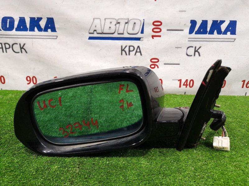 Зеркало Honda Inspire UC1 J30A 2003 переднее левое Левое, с повторителем, 7 контактов, есть трещина