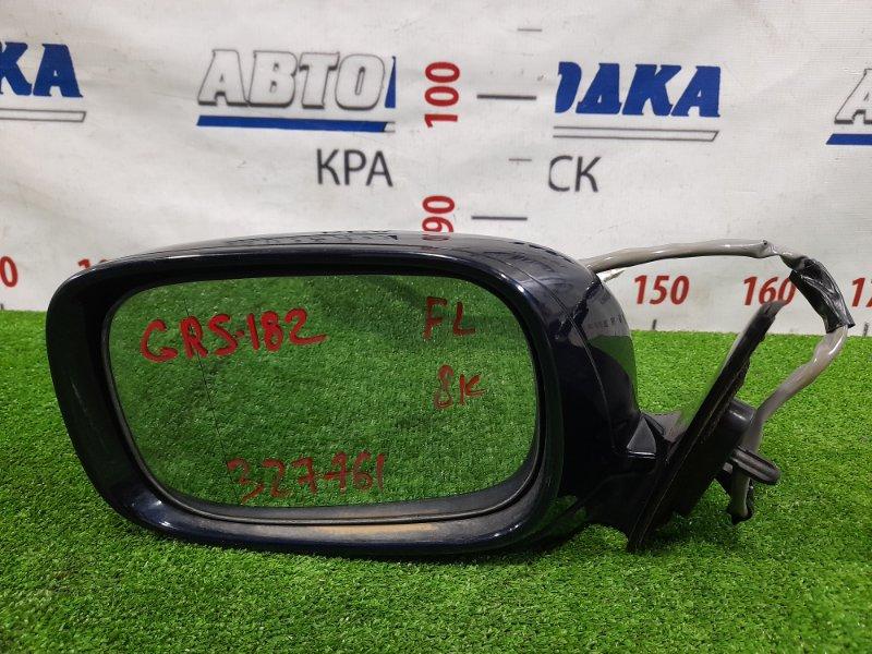 Зеркало Toyota Crown GRS182 3GR-FSE 2003 переднее левое Левое, 8 контактов, с подсветкой. Есть мелкие
