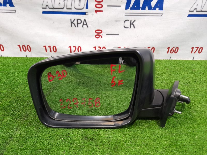 Зеркало Nissan Lafesta B30 MR20DE 2004 переднее левое левое, 5 контактов.
