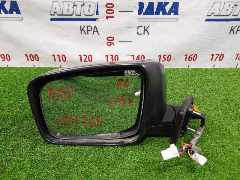Зеркало Nissan Lafesta B30 MR20DE 2004 переднее левое левое, 6+5 контактов, с камерой. Есть скол ЛКП,