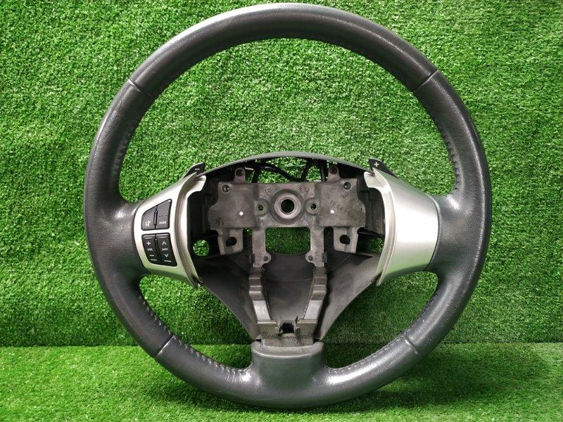 Руль Suzuki Wagon R MH23S K6AT 2008 водительский, с рулем, кожей, с кнопками, лепестками без
